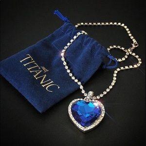 Jewelry - Titanic Heart of Ocean Blue Love Forever
